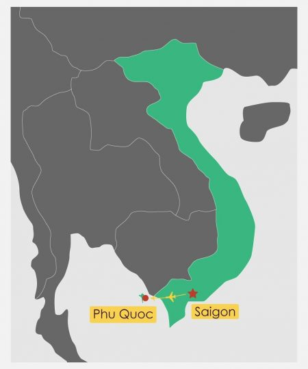 Itinerary Map of 10 Day Southern Vietnam With Phu Quoc Beach Break, offered by Asia Vacation Group