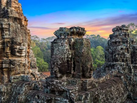 Bayon Temple in Siem Reap, Cambodia, offered in a tour with Asia Vacation Group