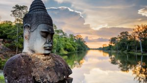 Angkor Thom is included in Cambodia tours offered by Asia Vacation Group.