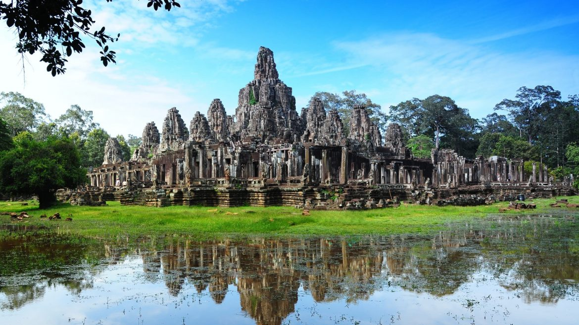 Bayon_Temple_in_Angkor_Thom is included in Cambodia tours offered by Asia Vacation Group.