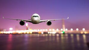 Generic Jet landing at airport