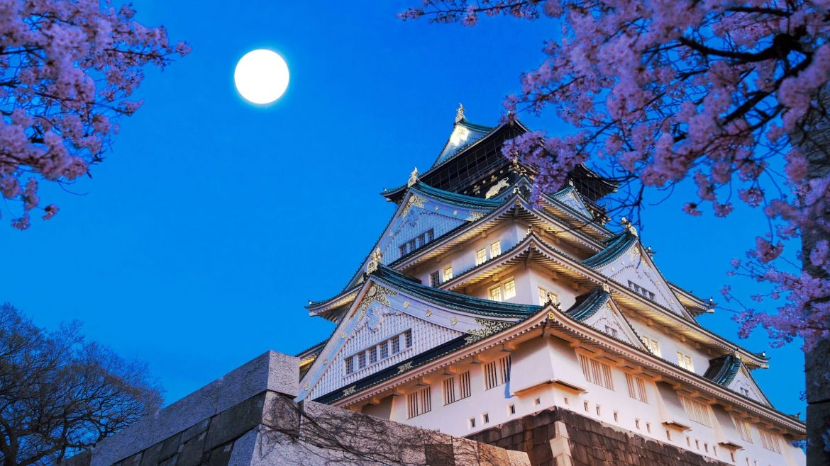 Osaka castle is included in Japan tours offered by Asia Vacation Group.