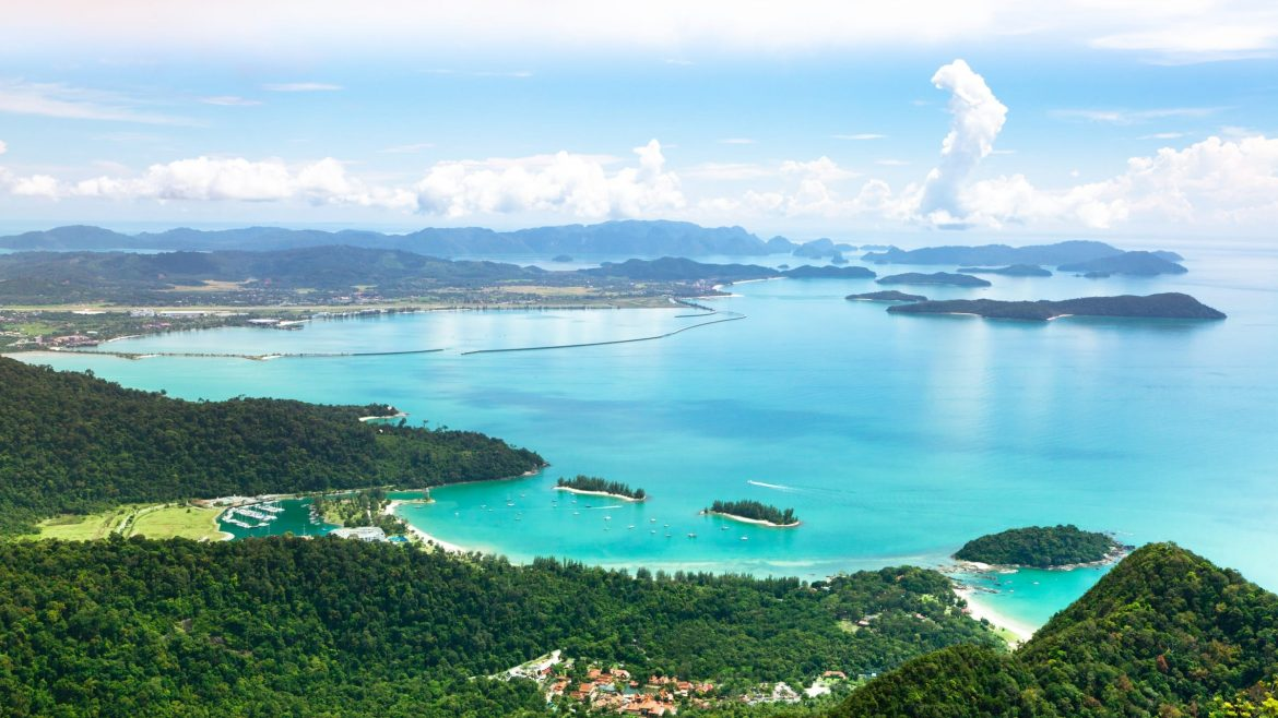 Langkawi Beach Aerial View, included in tours offered by Asia Vacation Group