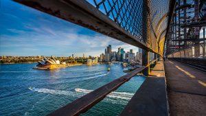 Opera House On Walking Way On The Harbor Bridge Sydney Australia Asia Vacation Group travel holiday