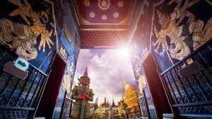 Wat Pra Kaew gate Grand palace, included in tours offered by Asia Vacation Group