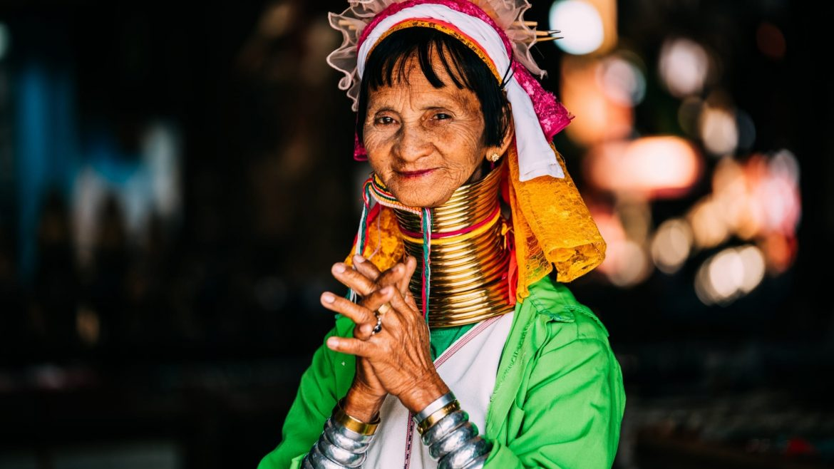 Long Neck Tribe Woman in Chiang Mai, Thailand