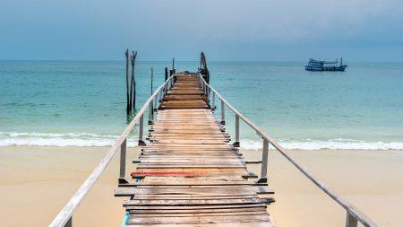 Harbor at Koh Samet Island, at Koh Samet, Thailand