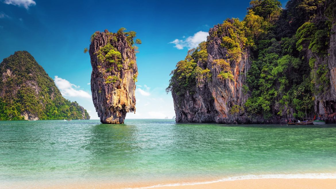 James Bond Island Beach, included in tours offered by Asia Vacation Group