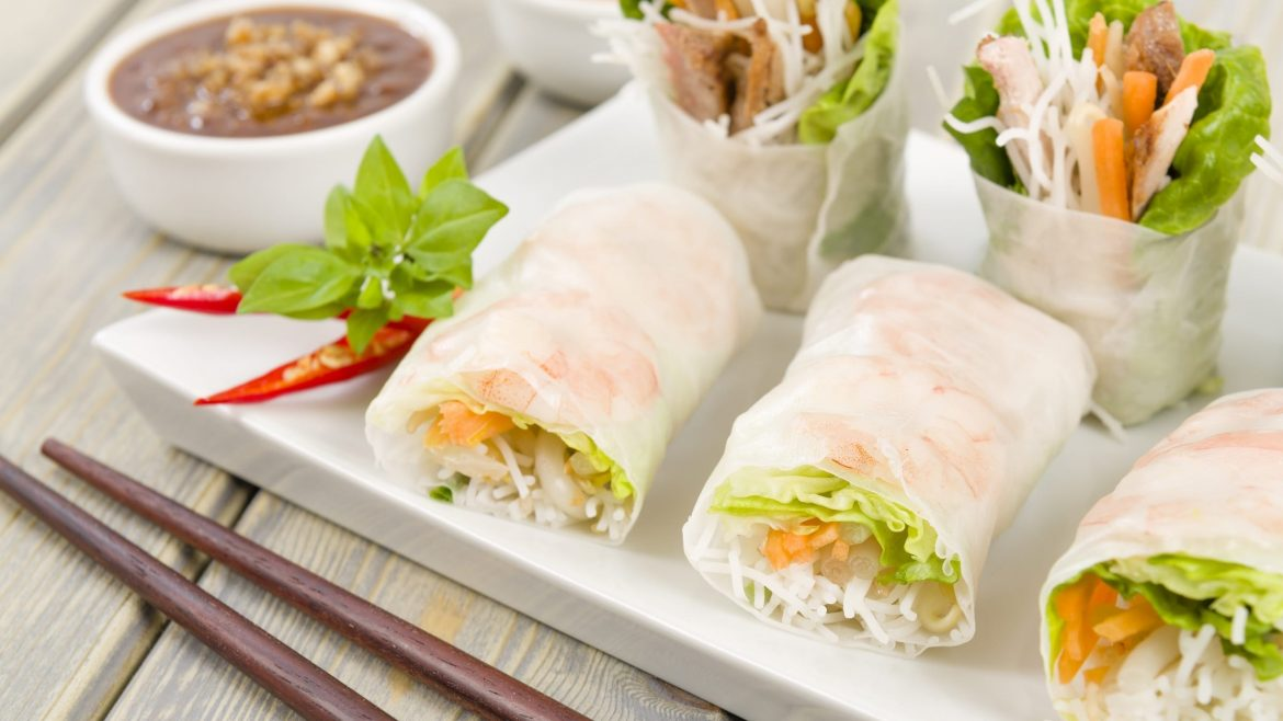 Hanoi Food Spring Rolls, included in tours offered by Asia Vacation Group