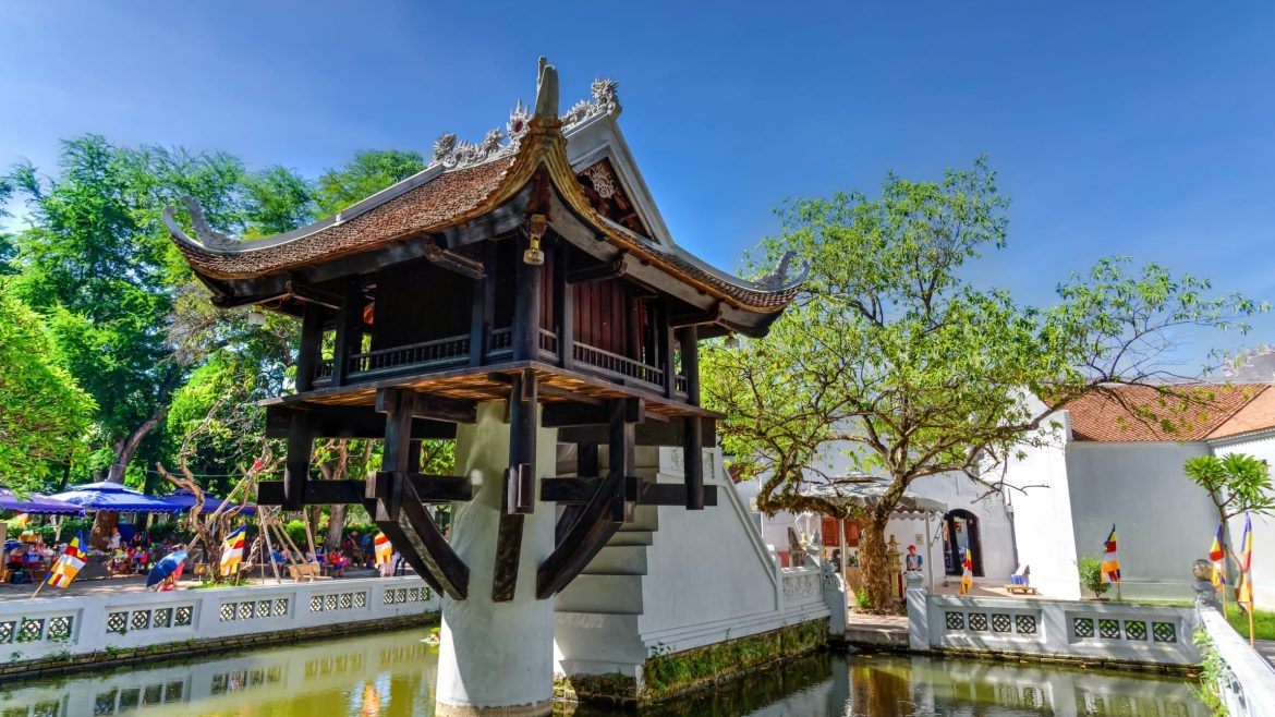 Hanoi One Pillar Pagoda, Vietnam, included in tours offered by Asia Vacation Group