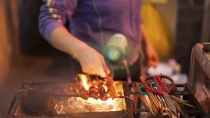 Street food scene in Hanoi, Vietnam, included in tours offered by Asia Vacation Group