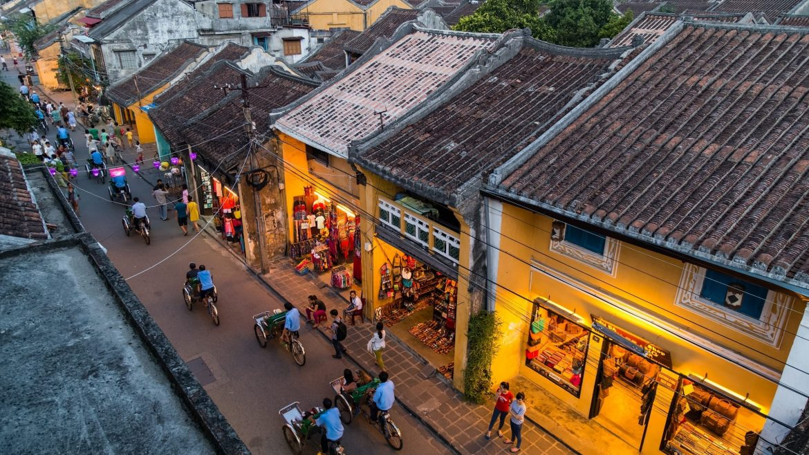 The glamour of busy Hoi An ancient town. included in tours offered by Asia Vacation Group