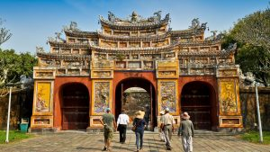 Hue Imperial citadel gate, Vietnam, included in tours offered by Asia Vacation Group