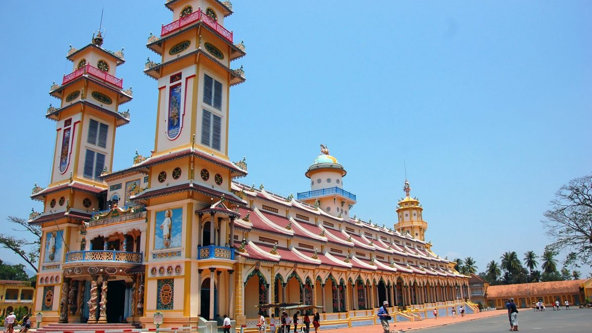 Sai Gon Cao Dai pagoda, included in tours offered by Asia Vacation Group