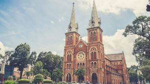Sai Gon notre dame church, Vietnam, included in tours offered by Asia Vacation Group