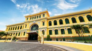 Sai Gon post office, Vietnam, included in tours offered by Asia Vacation Group